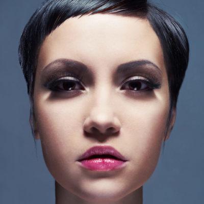 Alere hair - short black cut front